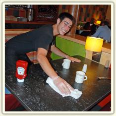 restaurant busboy