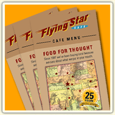 Flying Star Cafe PDF Menus
