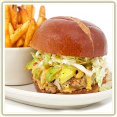 Cafe Menu - Local Burgers, Blues Burger