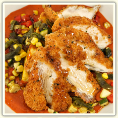 Cafe Menu - Entrees, Dishes: Rosemary Chicken